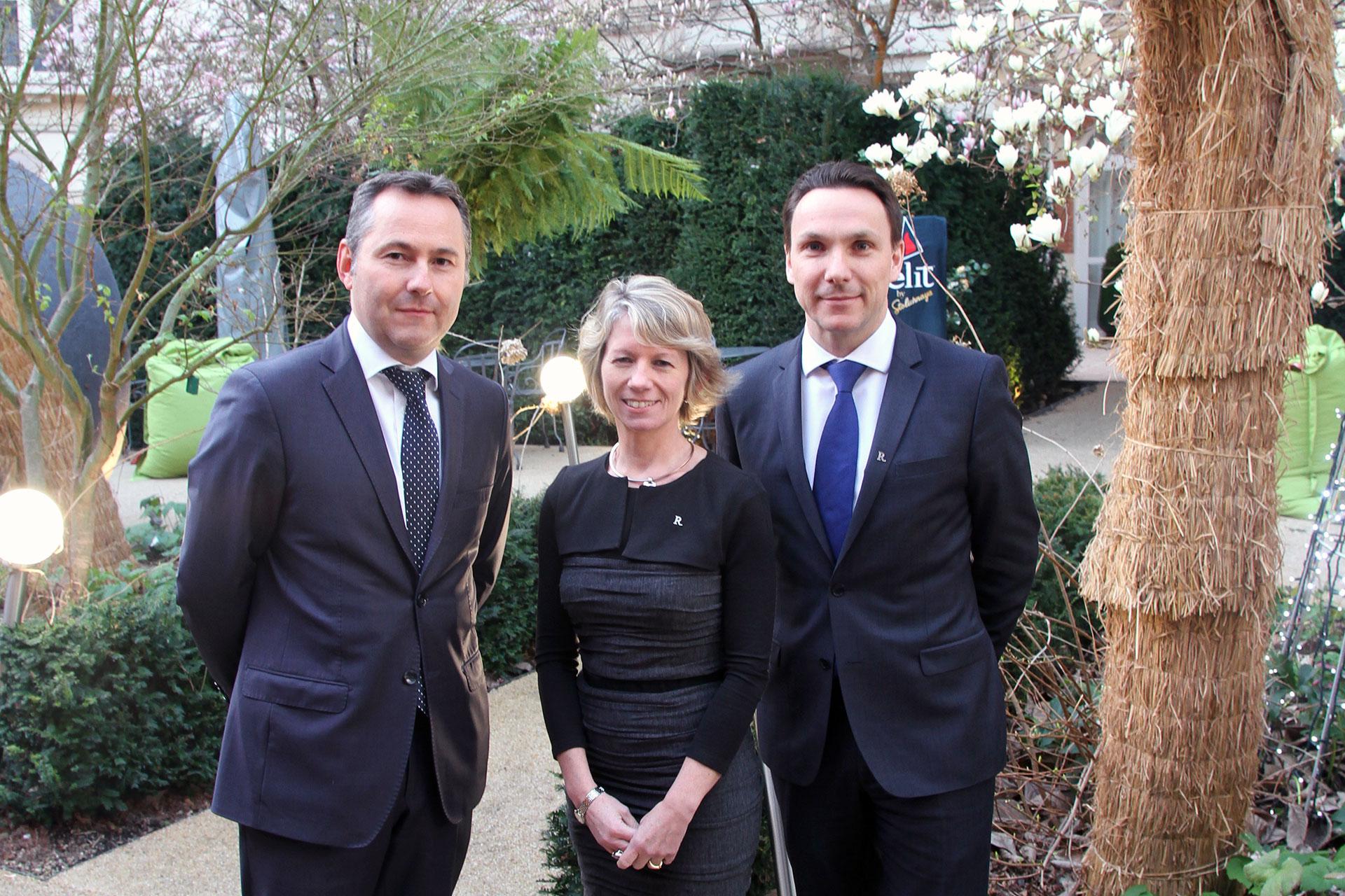 Stéphane Cronier, Anne Legrand, Jérôme Bourdais, Hôtel Renaissance Paris