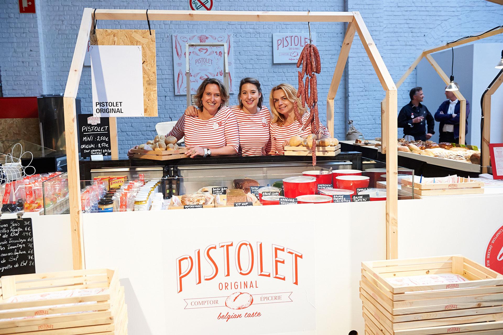 Valérie Lepla et l'équipe de Pistolet Original