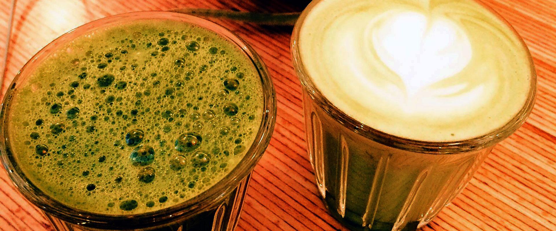 Un Matcha café façon coffee shop à Paris