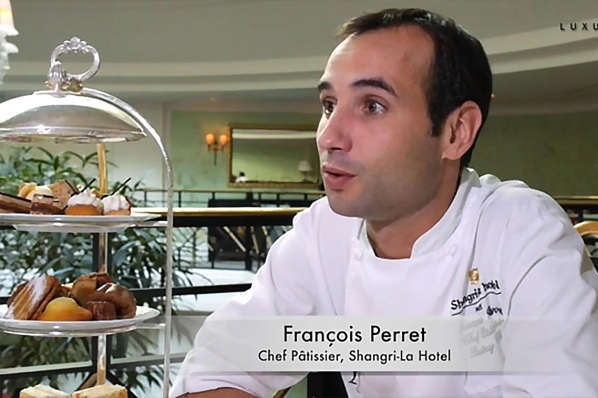 François Perret. Chef pâtissier Shangri-La Hotel