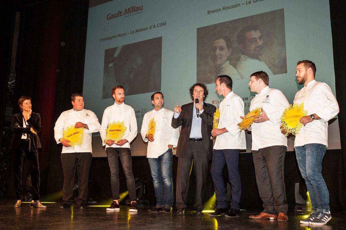 Marc Esquerré et les lauréats du trophée Grand de demain